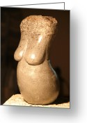 Stone Sculpture Greeting Cards - Stone Torso Front Greeting Card by Tommy  Urbans