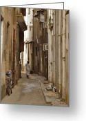 Alley Greeting Cards - Stone Town Greeting Card by Adam Romanowicz
