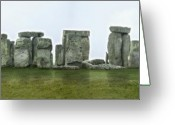Vortex Greeting Cards - STONEHENGE - England Greeting Card by Mike McGlothlen
