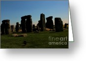 Mistic Greeting Cards - Stonehenge England Greeting Card by Rene Triay Photography