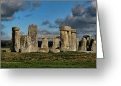 Burials Greeting Cards - Stonehenge Greeting Card by Heather Applegate