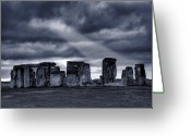 Astronomical Digital Art Greeting Cards - Stonehenge Greeting Card by  Jaroslaw Grudzinski