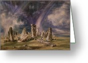 Standing Painting Greeting Cards - Stonehenge Greeting Card by John Constable