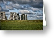 Burials Greeting Cards - Stonehenge Landscape Greeting Card by Heather Applegate