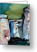 Mystical Drawings Greeting Cards - Stonehenge Greeting Card by Mindy Newman