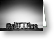 United Kingdom Greeting Cards - Stonehenge Greeting Card by Nina Papiorek