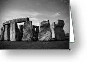 Sacrificial Greeting Cards - Stonehenge No 1 BW Greeting Card by Kamil Swiatek