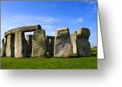 Sacrificial Greeting Cards - Stonehenge No 1 Greeting Card by Kamil Swiatek