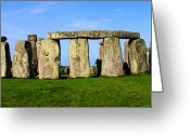 Sacrificial Greeting Cards - Stonehenge No 2 Greeting Card by Kamil Swiatek