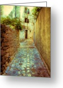 Urban Watercolour Greeting Cards - Stones and walls Greeting Card by Jasna Buncic