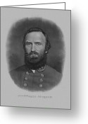 America Mixed Media Greeting Cards - Stonewall Jackson Greeting Card by War Is Hell Store