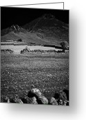 Dry Stone Wall Greeting Cards - Stony Rocky Irish Field Slieve Binnian Mourne Mountains County Down Ireland Greeting Card by Joe Fox