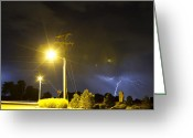 Lightning Bolt Pictures Greeting Cards - Stop Greeting Card by James Bo Insogna
