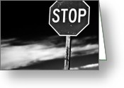 Featured Photo Greeting Cards - Stop Greeting Card by James Bull