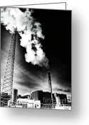 Soot Greeting Cards - Stop Smoking Greeting Card by Chuck Alaimo