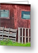 Wooden Pallets Greeting Cards - Storage Greeting Card by Bill Owen