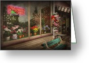 Mall Greeting Cards - Store - Belvidere NJ - Fragrant Designs Greeting Card by Mike Savad