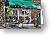Florist Greeting Cards - Store - Florist Greeting Card by Mike Savad