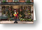 Pennsylvania Dutch Greeting Cards - Store - Strasburg PA - Petals and Beans Greeting Card by Mike Savad