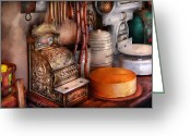 Meat Market Greeting Cards - Store - The old Deli  Greeting Card by Mike Savad