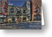 Store Fronts Greeting Cards - Store fronts Thomas WV Greeting Card by Dan Friend