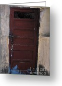 Entrance Door Greeting Cards - Store Room Door Greeting Card by Denis Shah
