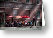 Sell Greeting Cards - Storefront - Bastile Day in Frenchtown Greeting Card by Mike Savad
