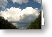 Storm Prints Photo Greeting Cards - Storm a Brewin Greeting Card by Elizabeth Coats