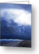 Surf Photos Art Greeting Cards - Storm Angel Greeting Card by Skip Willits
