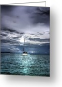 Stormy Skies Greeting Cards - Storm Approaching Greeting Card by Dolly Sanchez