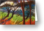 Colours Pastels Greeting Cards - Storm Approaching Fast Greeting Card by John  Williams