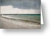 Storm Digital Art Greeting Cards - Storm Approaching Greeting Card by Iris Lehnhardt