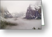 Tunnel View Greeting Cards - Storm Brewing Greeting Card by Bill Gallagher