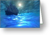 Sailboat Picture Greeting Cards - Storm Brewing Greeting Card by Corey Ford