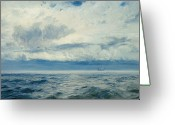 Brewing Greeting Cards - Storm Brewing Greeting Card by Henry Moore