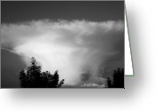 Licht Greeting Cards - Storm Cloud Greeting Card by Juergen Weiss