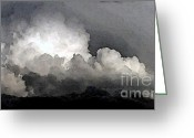 Storm Digital Art Greeting Cards - Storm Clouds Are Brewin Greeting Card by Methune Hively