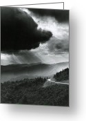 Dark Cloud Greeting Cards - Storm Clouds Greeting Card by Bruce Roberts and Photo Researchers