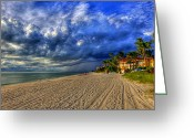 Sean Allen Greeting Cards - Storm Clouds on the Horizon Greeting Card by Sean Allen