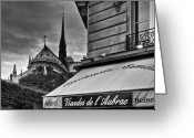 Brasserie Greeting Cards - Storm Clouds over Paris Greeting Card by Mick Burkey