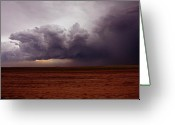 Lightening Storm Greeting Cards - Storm Clouds Rolling In Greeting Card by Kami McKeon