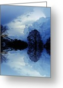 Storm Digital Art Greeting Cards - Storm Clouds Greeting Card by Sharon Lisa Clarke