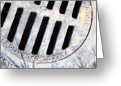 Drain Greeting Cards - Storm Drain 2 Greeting Card by Gigi Croom