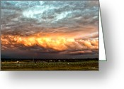 Christopher Holmes Greeting Cards - Storm Glow Greeting Card by Christopher Holmes
