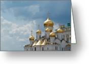 Storm Cloud Greeting Cards - Storm In Russia Greeting Card by Boris SV