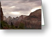 Summit Greeting Cards - Storm in Zion Greeting Card by Jane Rix