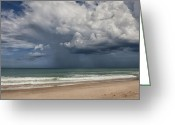 Melbourne Beach Greeting Cards - Storm Is Coming Greeting Card by Cheryl Davis