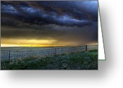 Hail Photo Greeting Cards - Storm On The Plains Greeting Card by Jason Bates