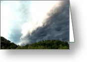 Kay Sawyer Greeting Cards - Storm Over Pinkwood Greeting Card by Kay Sawyer