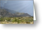 Rocky Mountains Greeting Cards Greeting Cards - Storm Rays Summer Greeting Card by Andrea Hazel Ihlefeld